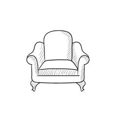 Armchair sketch icon vector image