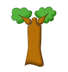 baobab tree icon cartoon style vector image
