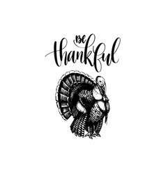 be thankful lettering of vector image vector image