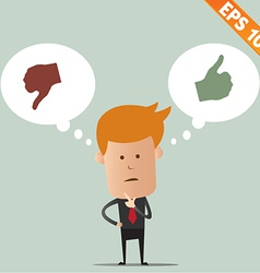 Business man thinking of choice - - EPS10 vector image