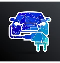 Electric car plug icon eco fuel vector image vector image
