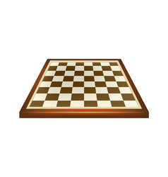 Empty chess board in brown design vector