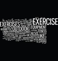 Fitness workout text background word cloud concept vector