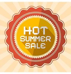 Hot summer sale retro vector