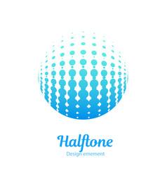 Logo halftone design element vector