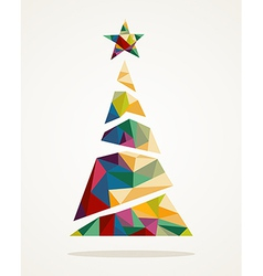 Merry Christmas trendy abstract tree EPS10 file vector image vector image