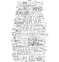 Mike gravel democrat text background word cloud vector