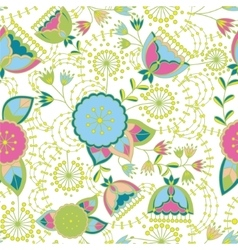 Poppy and dandelion seamless pattern colorful vector image