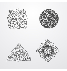 Scribble vector image