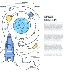 Space Vertical Line Art Concept vector image vector image