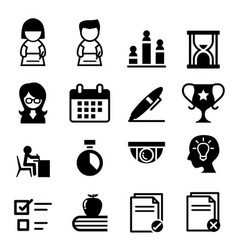 test examination survey icon vector image