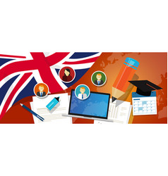 uk united kingdom england britain education school vector image