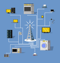 Wireless connection concept vector