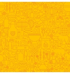 Line yellow barbecue tile pattern vector