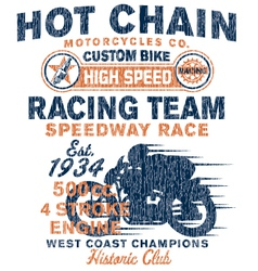 Vintage motorcycles racing team vector image
