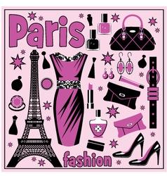 Paris fashion set vector image