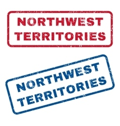Northwest territories rubber stamps vector