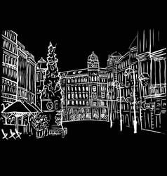 graben street in vienna vector image