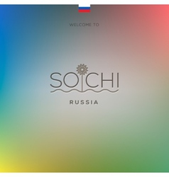 World cities - sochi banner vector