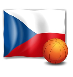 The flag of CzechRepublic and a ball vector image