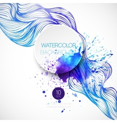 Watercolor wave background vector