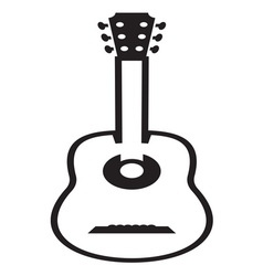 Guitar icon resize vector