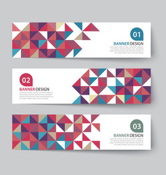 Abstract triangle banner flat design vector
