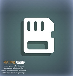 Compact memory card icon symbol on the blue-green vector