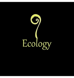 Inscription plant ecology vector