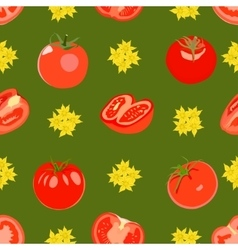 Pattern with tomatos vector