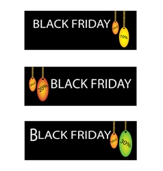 Black friday sale label with percentages discount vector