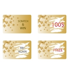 Scratch and win a prize card vector