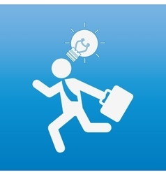 Businessman running design vector