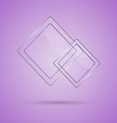 Abstract glass panel with copy space on violet vector