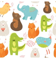 Animal background vector image