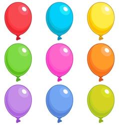 Balloons Singles vector image vector image