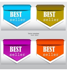 Bookmarks bestseller vector