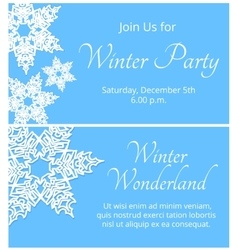 Card with snowflakes vector image