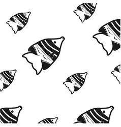 fish sea background symbol vector image vector image
