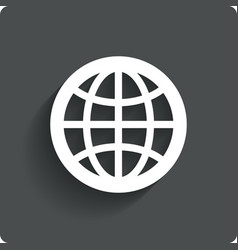 Globe earth icon travel symbol vector