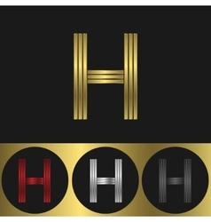 H letter logo vector