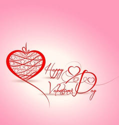 Happy Valentine background vector image