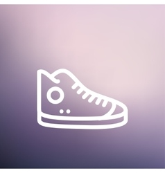 High cut rubber shoes thin line icon vector image vector image
