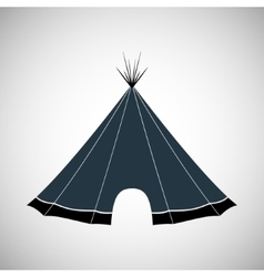 Hut wigwam shelter tent house vector