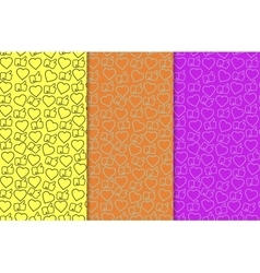 Likes and hearts pattern vector