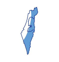 Map of israel vector