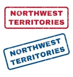 Northwest Territories Rubber Stamps vector image vector image