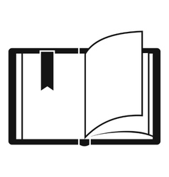 Open book icon simple style vector