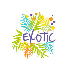 original exotic travel logo template vector image vector image