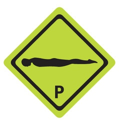 planking sign vector image